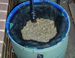 Slow sand filter for greywater