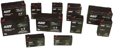 Haze range of lead acid batteries - 4V, 6V, and 12V