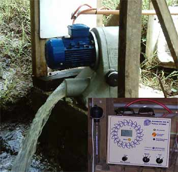 Hydro power installation in Fiji generating 5 Amps