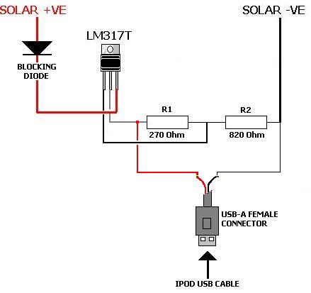 Solar Ipod Charger on car battery charger schematic