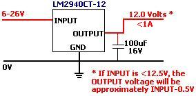 Building a working voltage regulator using an LM2940