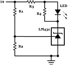 TL431 in a Voltage Monitor Circuit