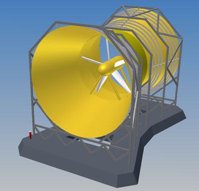 Tidal turbine schematic - Lunar Energy