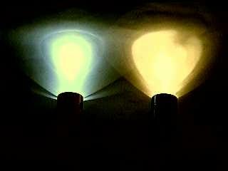 Maglite conversion LED to standard bulb comparison