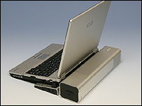 Methanol fuel cell powered laptop