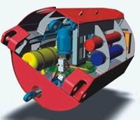 CAD impression inside a Pelamis section.