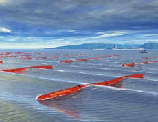 Artist impression of 40 connected Pelamis cyclinders.