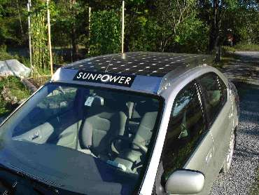 PV Solar Enhanced Prius Hybrid Car