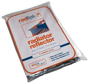 Radflek radiator reflector