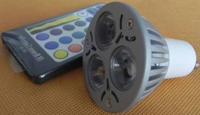 Remote control colour change gu10 LED spotlight bulb