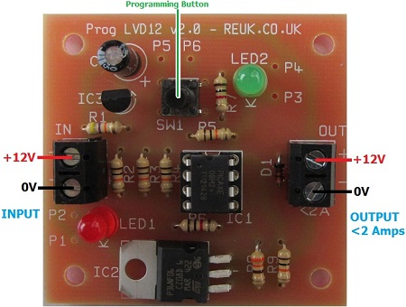 REUK Mini programmable 12V low voltage disconnect connection diagram