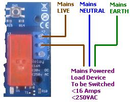 Switching a mains powered device with the REUK Super LDR Dusk Dawn Controller - connection diagram