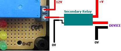 REUK Super Timer used to switch a secondary relay
