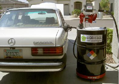 Running a car on biodiesel