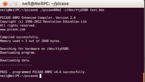 Running PICAXE compiler on Linux