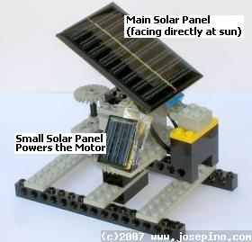 Simple solar tracker with no complicated electronics