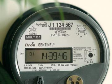 Smart meter in use in Ontario, Canada