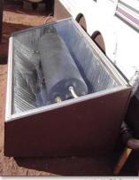 Solar batch heater - painted black
