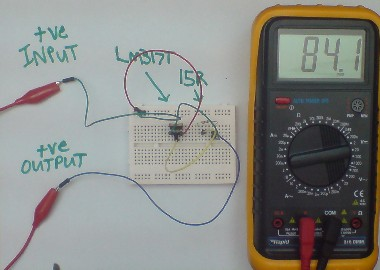 Testing the LM317T current limiting circuit