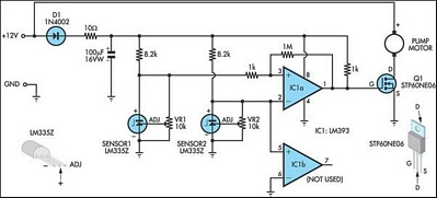 solar water heating pump controller reuk co uk pump controller for solar hot water system the circuit diagram