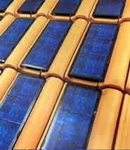 PV Solar roof tiles in action