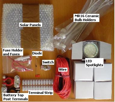 Put together an reuk solar lighting kit reuk solar shed lighting circuit with solar panels asfbconference2016 Images