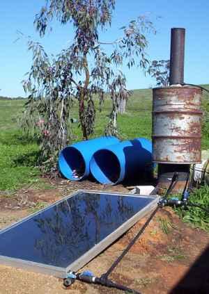 DIY Solar Water Heating Panel System