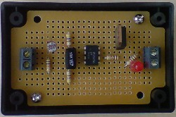 Soldered light/dark sensor circuit with MOSFET for powering lighting