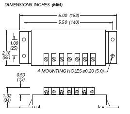 Dimensions of the SunSaver