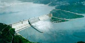 Three Gorges Dam in China. Hydro-electric power generation