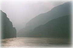 The Three Gorges before construction of the dam