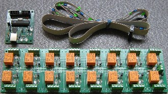 USB controlled relay board - 16 relays