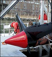 Tidal turbine being installed in East River, NYC