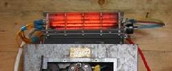 Old 240V fan heater used as a wind turbine dump load