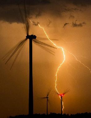 Wind turbine lightning strike - insurance