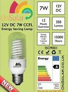 12VDC energy saving light bulbs