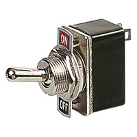 1.5A TOGGLE SWITCH. 1.5 Amp toggle switch with ON/OFF markings. Very strong and durable.