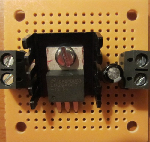 12 Volt DC voltage regulator for LED spotlights