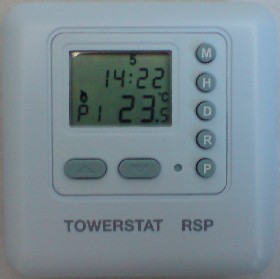 BATTERY POWERED TIMER THERMOSTAT. Use as a thermostat, or as a timer with built in relay for 12 Volt DC applications (5 Amp)
