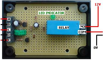 CONVERTED PROGRAMMABLE DIGITAL TIMER RELAY. Mains powered programmable timer converted to low voltage with relay board