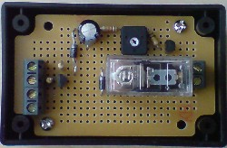 PIR RELAY TIMER. UK built circuit to open a relay for 5-75 seconds after 12V DC PIR sensor detects motion