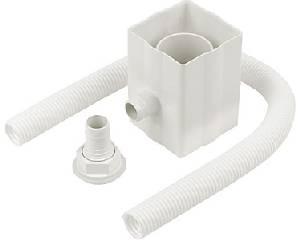 RAINWATER DIVERTER KIT. Rainwater diverter kit for standard plastic 65mm square and 68mm round downpipes
