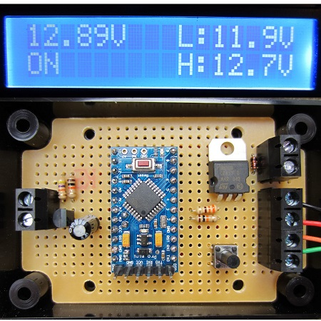 REUK PROGRAMMABLE LOW VOLTAGE DISCONNECT WITH DISPLAY. Protect your 12V batteries from being overly discharged and monitor them with an LCD display