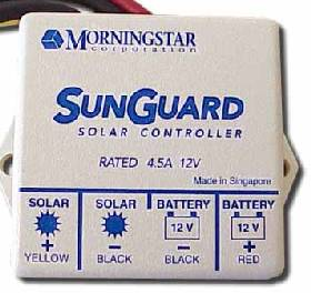 SUNGUARD SOLAR CONTROLLER. 4.5 Amp at 12 Volt solar charge controller - fully encapsulated and weatherproofed