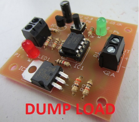 USER PROGRAMMABLE 12V DUMP LOAD CONTROLLER. Protect your 12 volt batteries and make use of excess power
