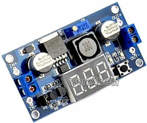 lm2596 voltage regulator with voltmeter display