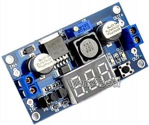 lm2596 voltage regulator with voltmeter display