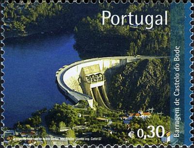 Castelo de Bode dam - Portugal hydro power plant