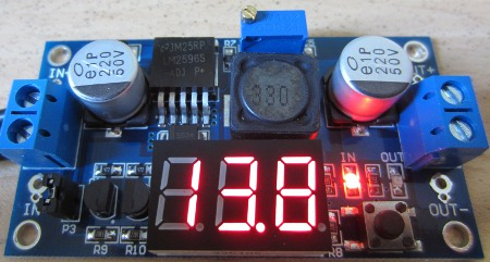 LM2596 variable voltage regulator with display