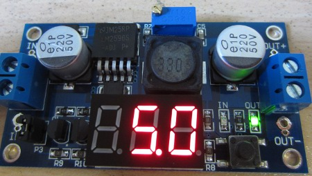 lm2596 with LCD voltage display